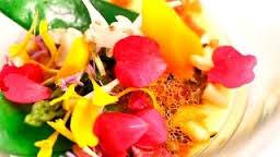 Lienzo de verduras pinceladas con de caldo de jamón Foto propiedad de Telemadrid