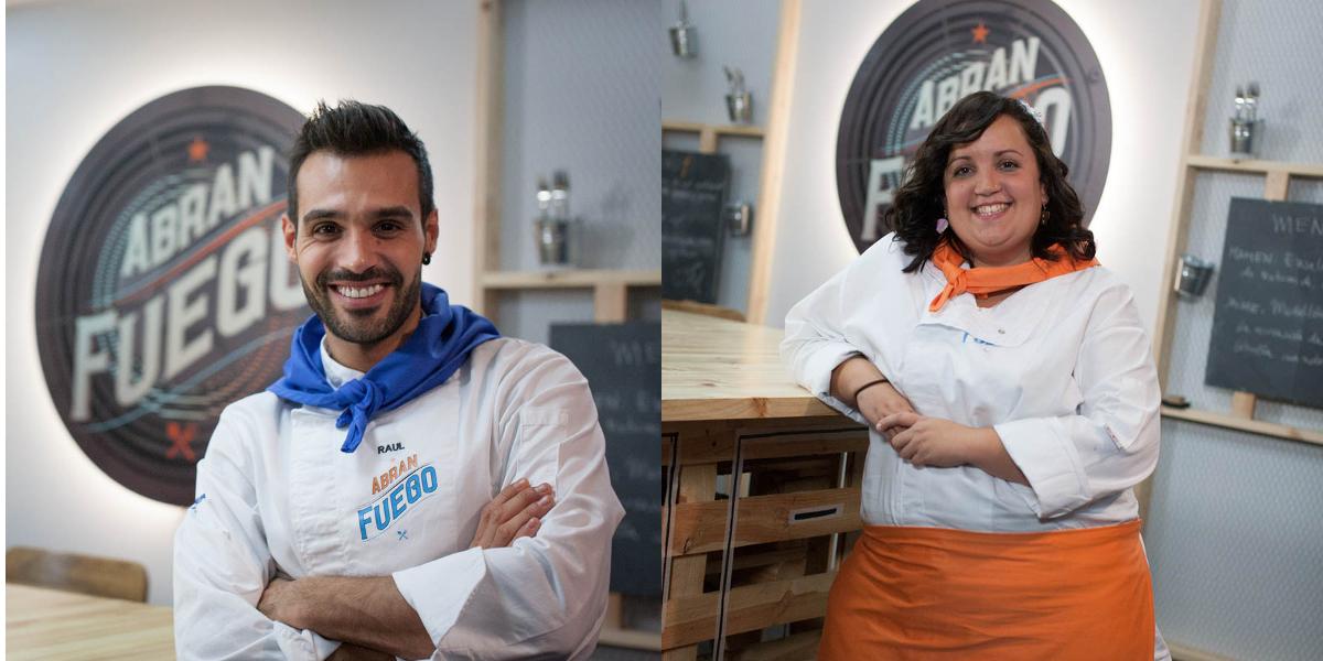 Sandra y Raul - Concursantes de Abran Fuego Foto propiedad de Telemadrid