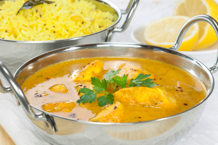Plato de pollo al curry