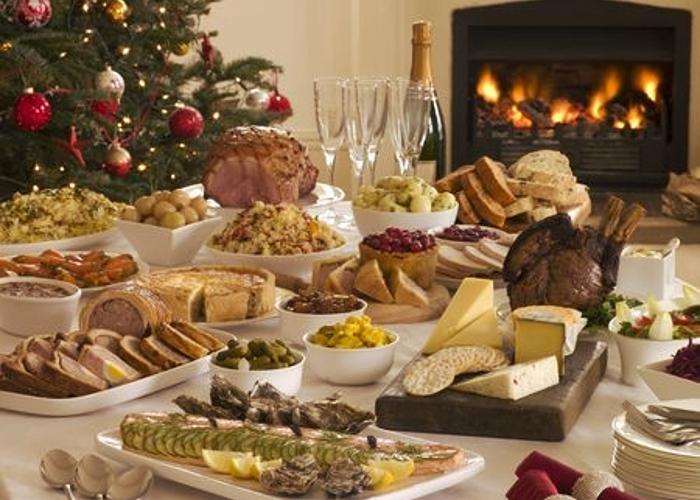 Comida en Navidad
